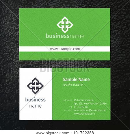 Set of vector business cards templates