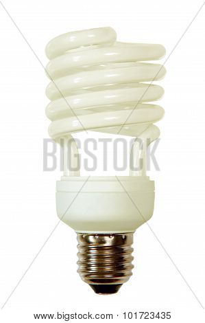 Energy Save Lamp Taken Closeup.isolated.