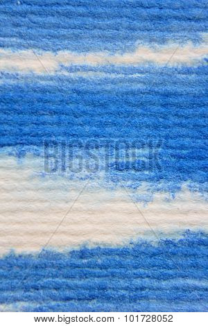 Macro Blue Watercolor on Textured paper 3