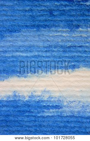 Macro Blue Watercolor on Textured paper 8