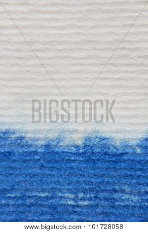 Macro Blue Watercolor on Textured paper 9