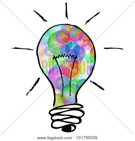 Creative Colorful Lightbulb