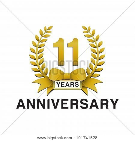 11th anniversary golden wreath logo
