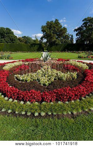 Flower Design In Garden