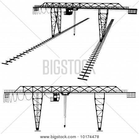 Gantry Crane Vector
