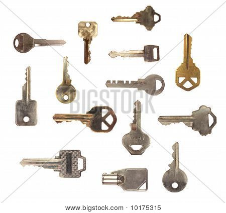 ISOLATED KEY OVER WHITE