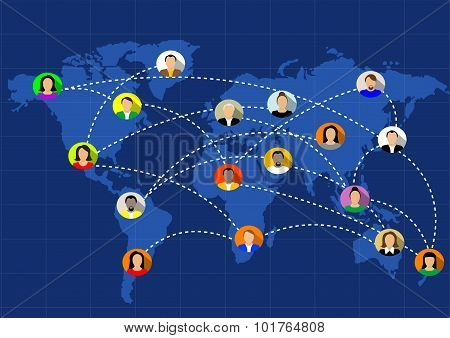social networks unite the world
