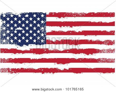 Threadbare flag of United States of America