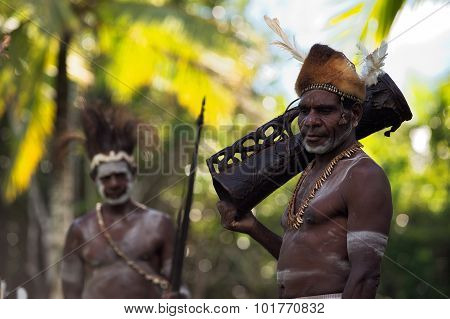 Asmat With Drum