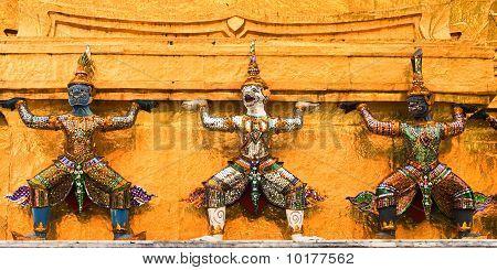 Statue In Thai Temple.