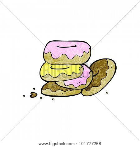 cartoon pile of donuts