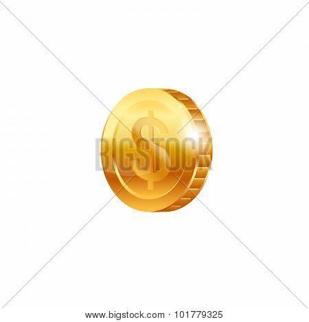 Gold coin. Vector