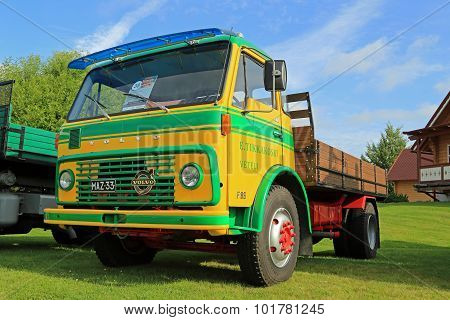 Volvo FB86 Tipper Truck Year 1972 On Display