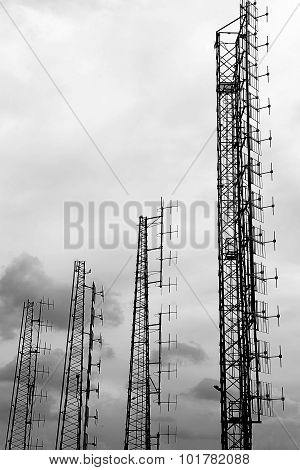 Large Antennas  Of Television And Telephone Signals