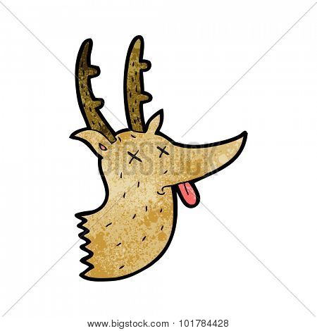 cartoon deer head