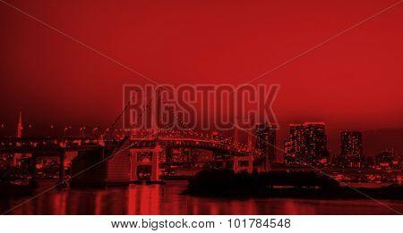 Panorama of illuminated Tokyo Civilizations Concept