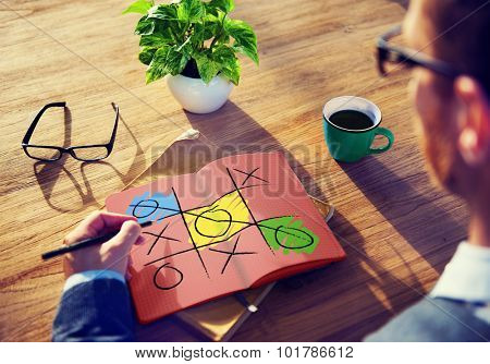 Leisure Game Tic Tac Toe Competition Challenge Winner Concept