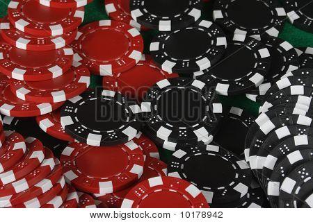 Red & Black Gambling Chips