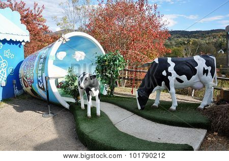 WATERBURY, VT, USA - OCT 10, 2010: Ben & Jerry's Ice Cream Factory in Waterbury, Vermont, USA.