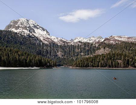 Black lake in national park Durmitor Montenegro poster