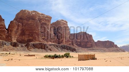 Wadi Rum Desert in southern Jordan 60 km to the east of Aqaba