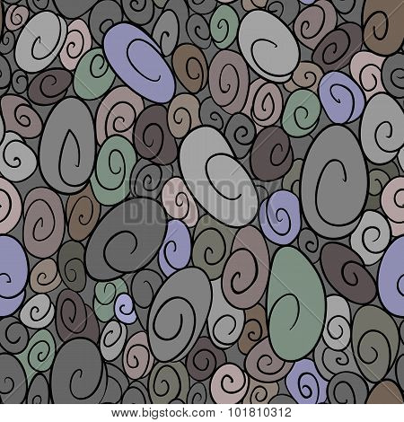 Seamless Pattern With Curls