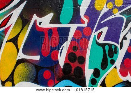 graffiti wall closeup . graffiti background