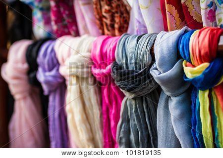 Textile, Cloth On Market