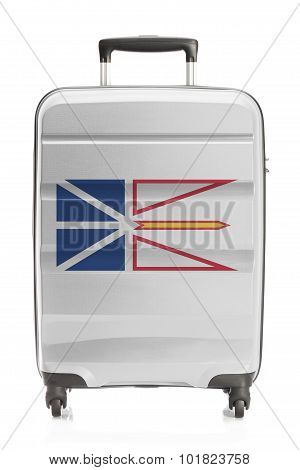 Suitcase painted into Canadian territory or province flag series - Newfoundland and Labrador poster
