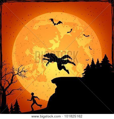Werewolf And Running Man