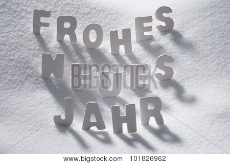 White Christmas Word Neues Jahr Means New Year On Snow