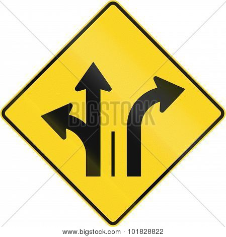 Two Lanes With Right Turn Lane In Canada