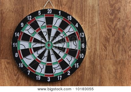 Dart board Target On The Wooden Wall