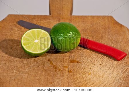 Limes And Red Knife