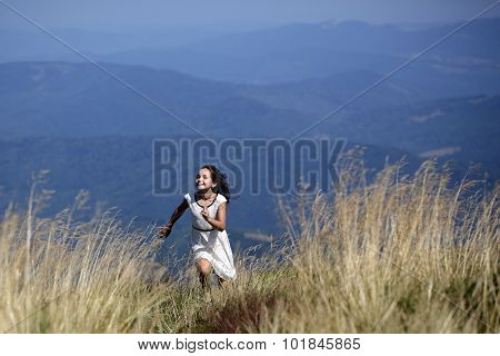 Girl In Mountain Valley