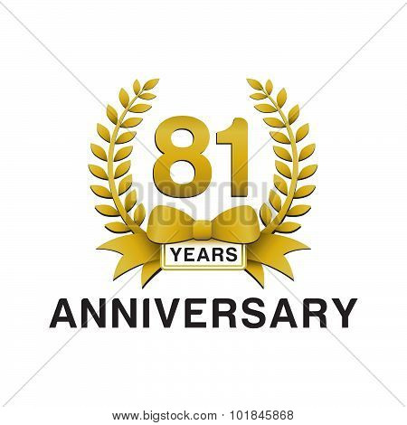 81st anniversary golden wreath logo