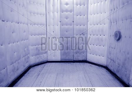 Empty padded cell. Concept photo of psychiatric hospital mental hospitals psychiatric wards and mental disorders.