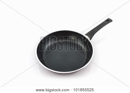 Black Frying Pan With Handle.