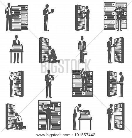 Datacenter Icons Set