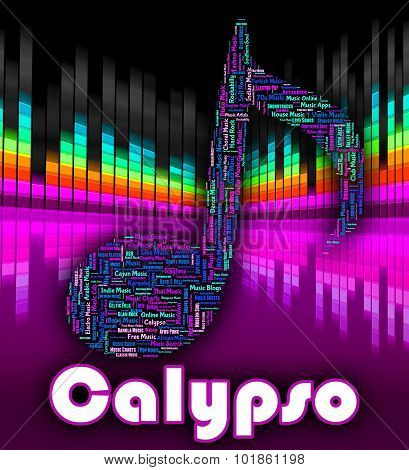 Calypso Music Indicates Caribbean Song And Calypsos