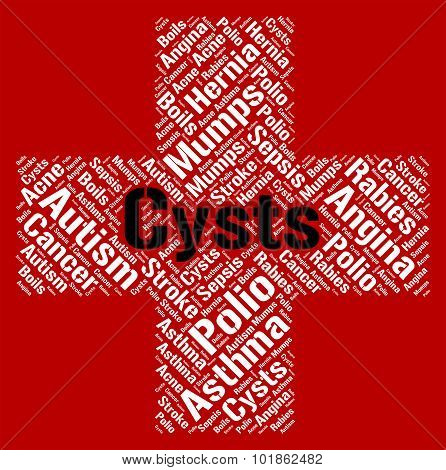 Cysts Word Indicates Ill Health And Affliction