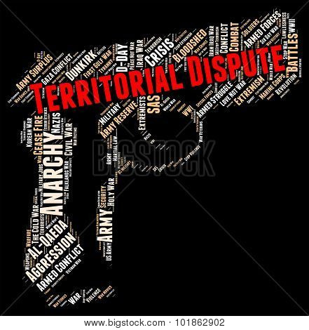 Territorial Dispute Showing Difference Of Opinion And Falling Out poster