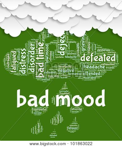 Bad Mood Represents Grief Stricken And Anger