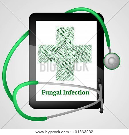 Fungal Infection Indicating Poor Health And Ulceration poster