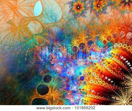 Fractal galaxy background