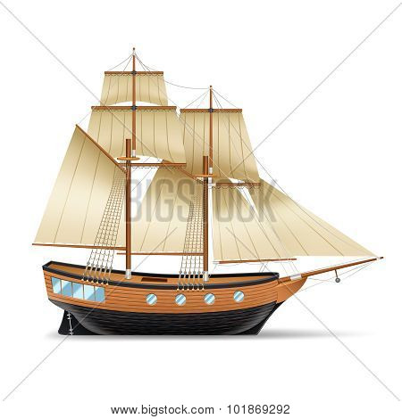 Sailing Ship Illustration