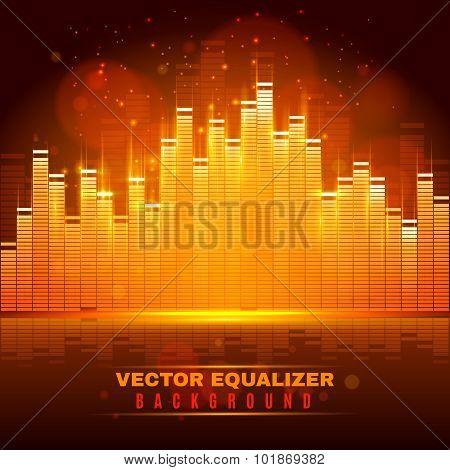 Equalizer wave light background poster
