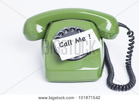 Phone with note Call me