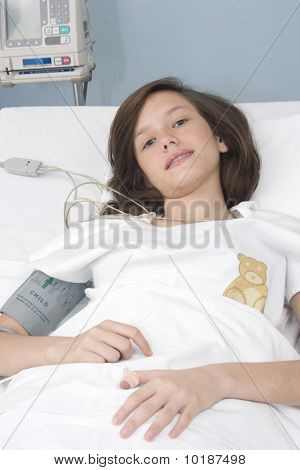 Beautiful girl patient