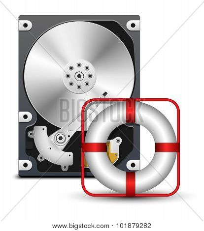 Open Hard Disk Drive With Life Buoy